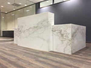 Commercial Impact Stone Design - Custom cut ceramic tile
